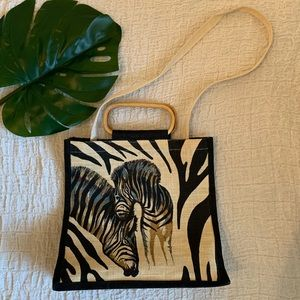 Zebra Canvas Tote